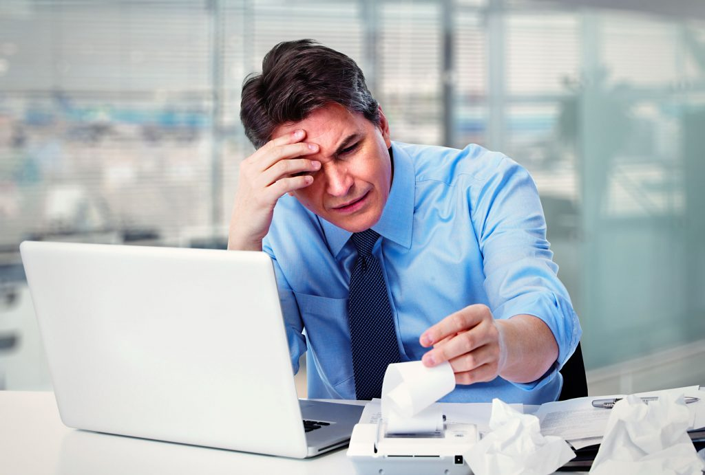 35195125 - accountant businessman having a stress